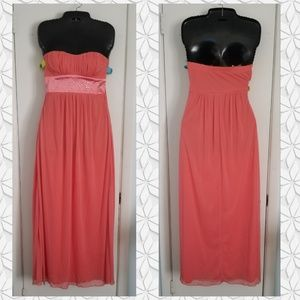 Strapless Trixxi Coral dress